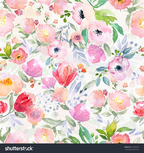 watercolor botanical pattern watercolor floral botanical pattern seamless background