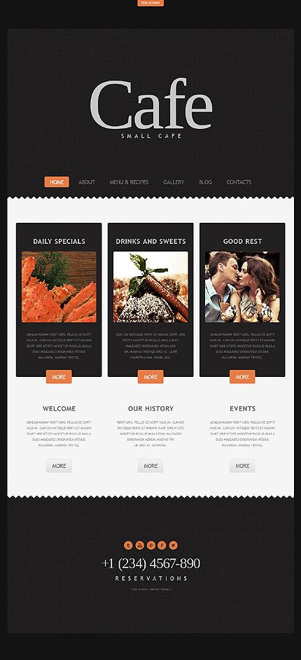 30 restaurant and cafe wordpress website templates
