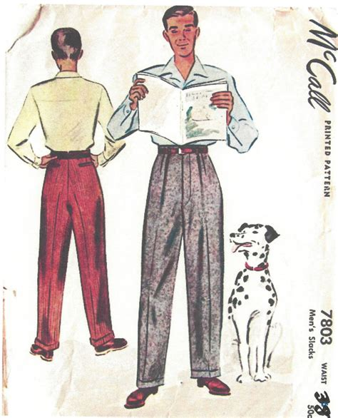 vintage pattern trousers 1940s ww2 vintage sewing pattern w38 quot mens pants trousers