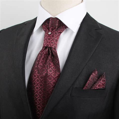 luxury wedding necktie set hanky pocket square
