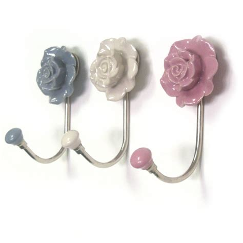 Bedroom Hooks by Flower Ceramic Hallway Bedroom Coat Hooks By Pushka Home