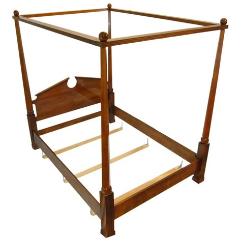 Size Canopy Bed Frame by Federal Style Henredon Cherry Size Canopy Bed Frame