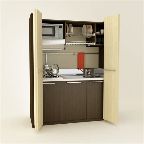 mini kitchen cabinets inspirational built in hidden mini kitchen cabinets with