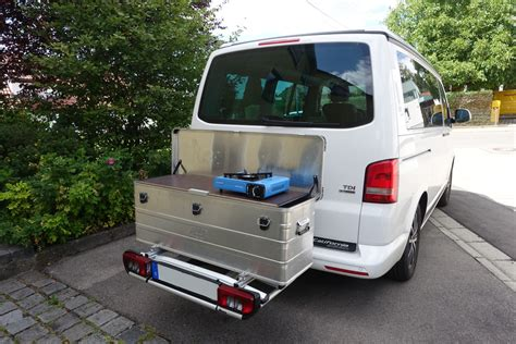 Motorrad Transportkiste Bauen by Heckbox Vom T4 Zum T5 Cing Technik Vwbuswelt T4