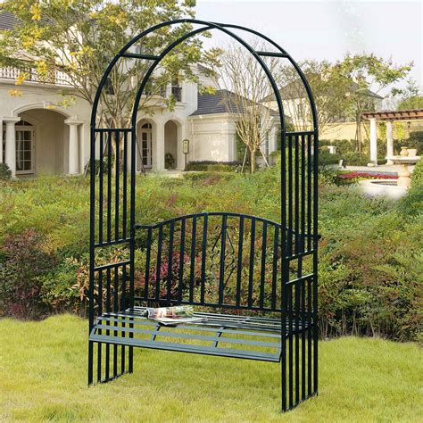 arbor with bench seat upc 841057101001 sunjoy prima arbor with seat
