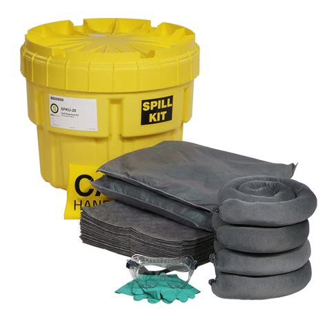 universal spill kit 20 gallon overpack drum universal spill response for water oils