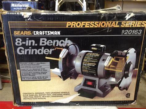 craftsman 8 bench grinder 8 inch 1 hp craftsman bench grinder victoria city victoria