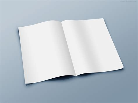 Folded Papers - blank folded paper template psd psdgraphics