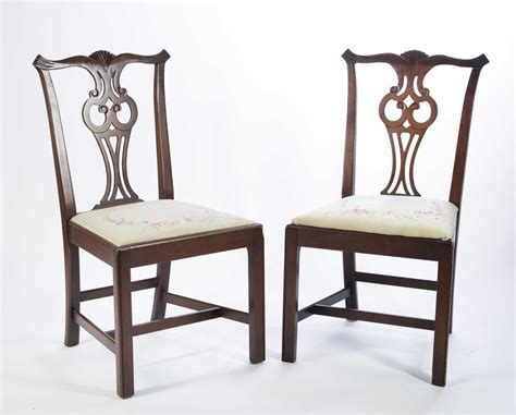 Chippendale Style Dining Chairs Four Chippendale Style Dining Chairs