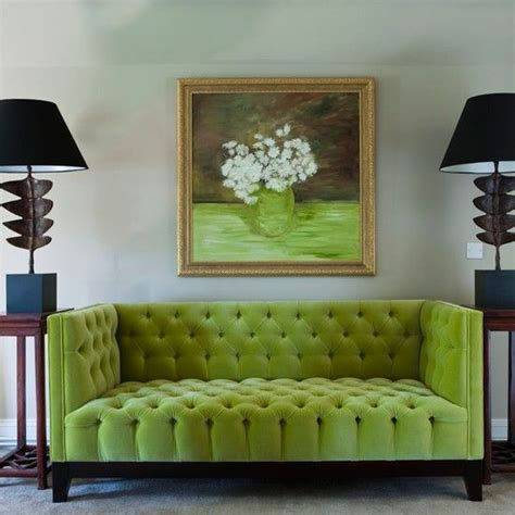 Living Room With Lime Green Sofa Pantone S 2017 Color 22 Greenery Home D 233 Cor Ideas Digsdigs