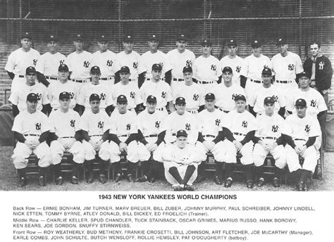 TheDeadballEra.com :: 1943 YANKEES TEAM PHOTO Unknowns