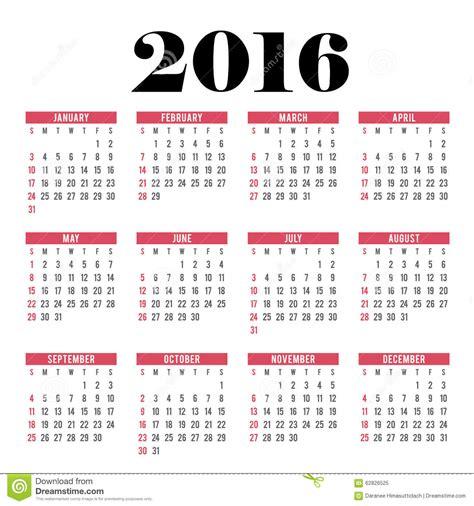 calendario 2016 que indique semanas calendario 2016 del c 237 rculo del vector la semana empieza