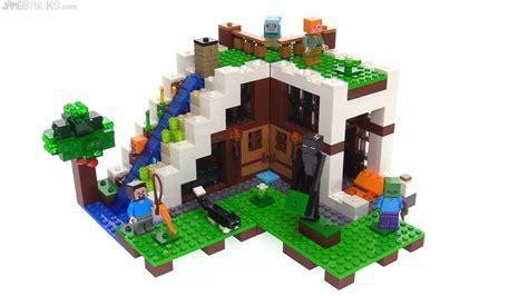 Lego Bozhi 117 1 8 Minecraft My World 8 In 1 lego minecraft waterfall base review 21134