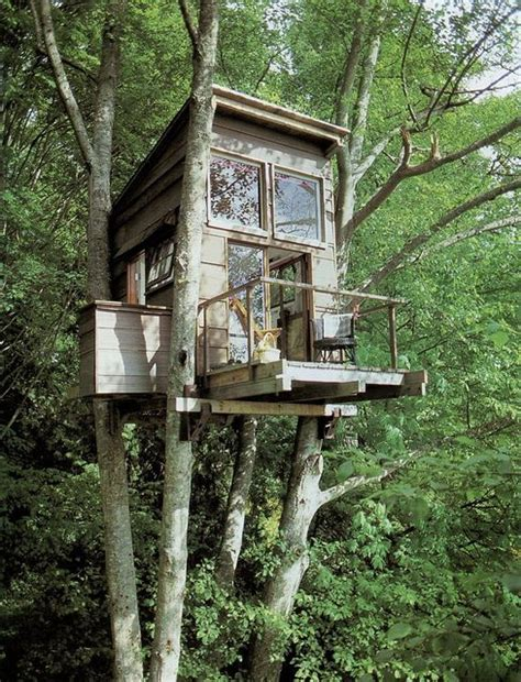 tiny tree house tiny treehouse cabin with a balcony tiny house pins