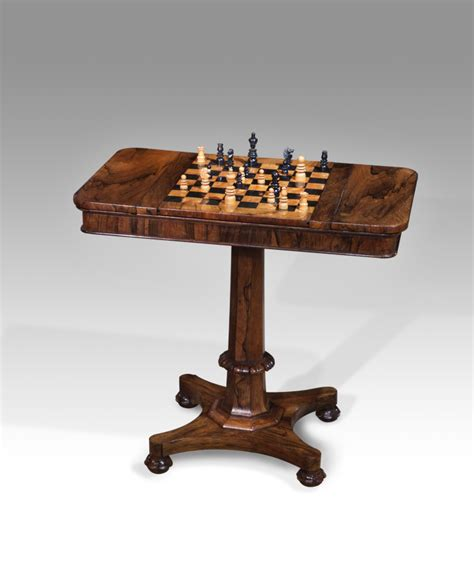 chess table antique games table backgammon table chess table