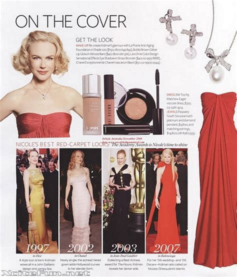 Catwalk To Photo Shoot Instyle January 2008 by Kidman Looks In Photo Shoot