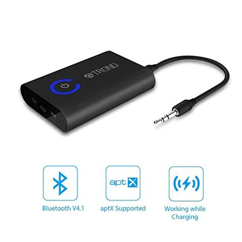 Bluetooth 2 In 1 Transmitter And Receiver trond 2 in 1 bluetooth v4 1 transmitter receiver wireless 3 5mm audio adapter aptx low