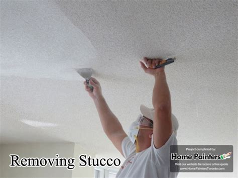 How To Remove Stucco Ceilings by Remove Popcorn And Stucco