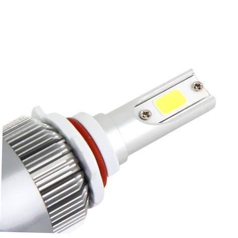1 pair c6 9006 car led bulb 4000lm 12 24v 80w 6000k white
