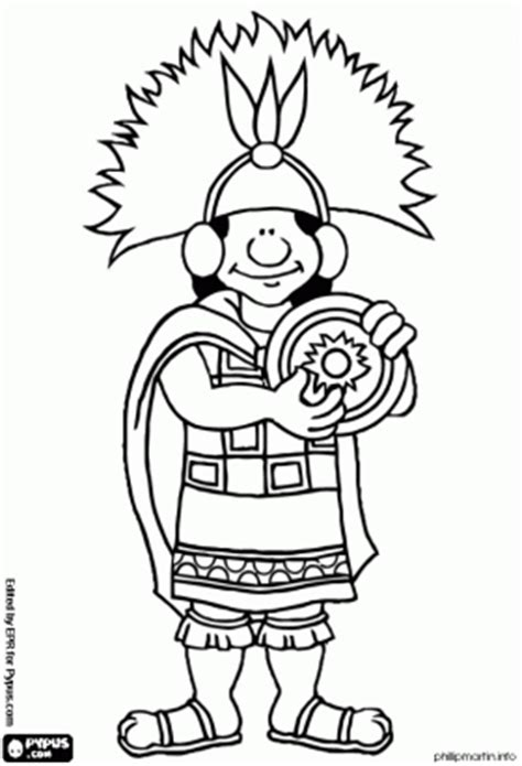 Incas Inca Empire Printable Coloring Pages Personnages Inca Coloring Pages