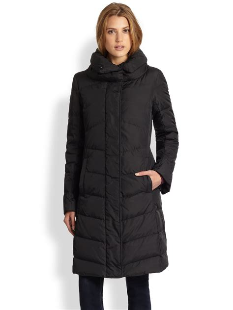 Black Quilted Coat by Eileen Fisher Quilted Coat In Black Lyst
