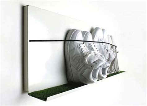 Sneaker Wall Rack by Functional Shoe Rack Interior Decorating Accessories