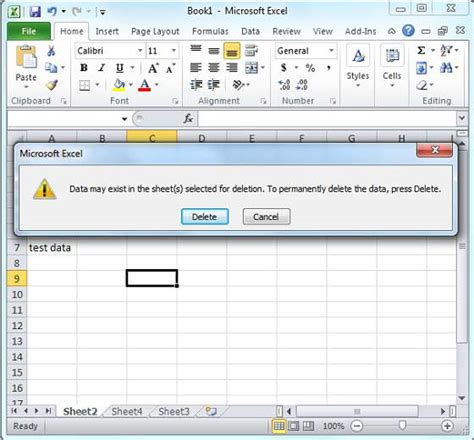 tutorialspoint excel delete worksheet in excel 2010
