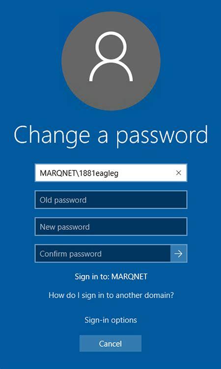 windows reset password vs change password change your password via windows 8 it services