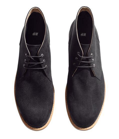 m s mens boots h m desert boots in black for lyst