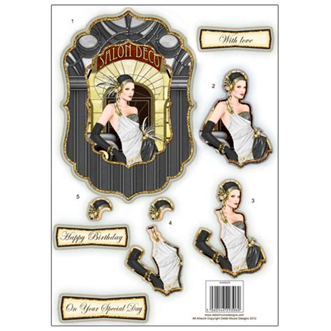 Deco Decoupage - deco die cut decoupage fancy black white