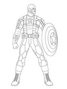 Ausmalbild Captain America Zum Kampf Bereit  Ausmalbilder Kostenlos sketch template