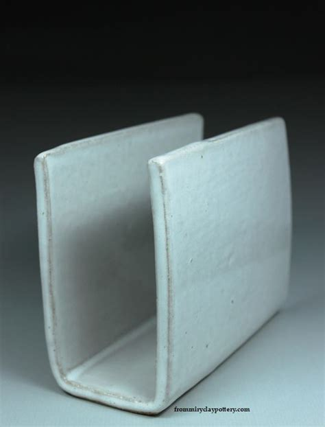 Handmade Napkin Holders - handmade pottery napkin holder by from miry clay pottery