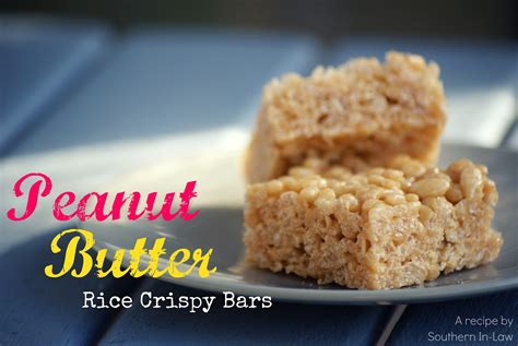 southern in law recipe peanut butter rice crispy bars