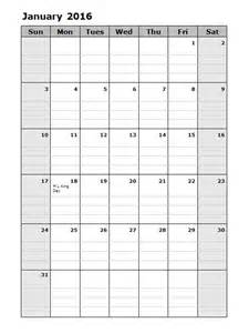 2016 monthly calendar template 2016 monthly calendar template 15 free printable templates