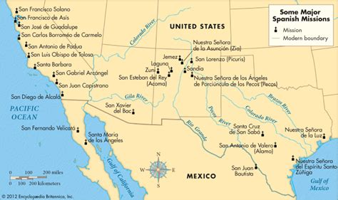 missions in texas map missions britannica homework help