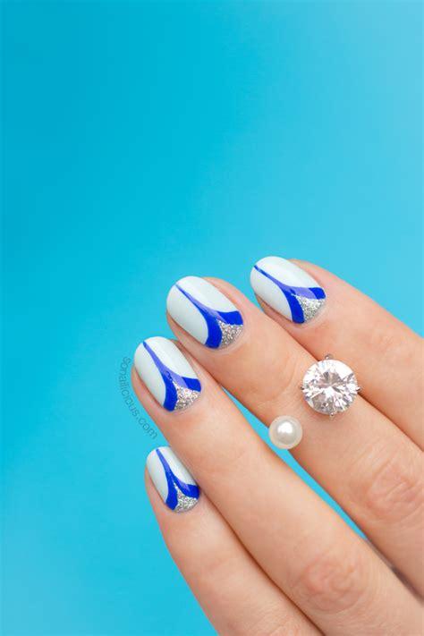 tutorial nail art elegant elegant nails with double spike detail tutorial