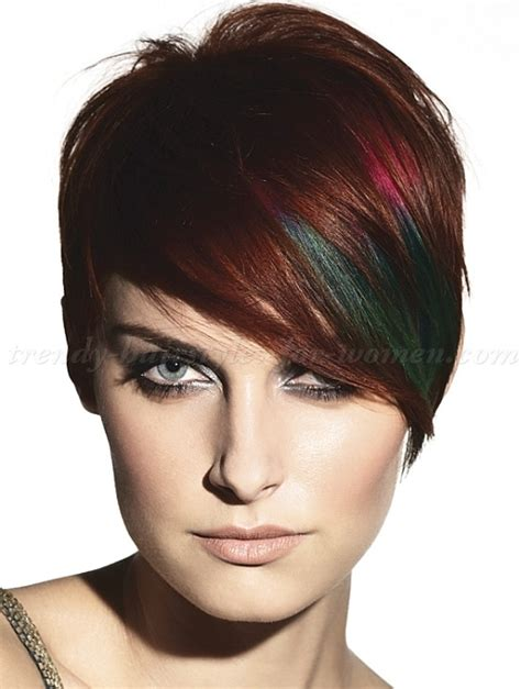 short hair with fringe neckline short hair style with an eye long fringe and a soft