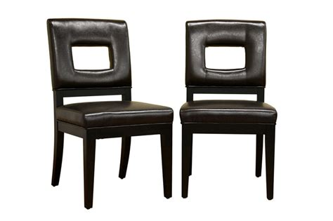 Leather Chair Dining Set Modern Leather Dining Chairs Set Of 2 In Dining Chairs