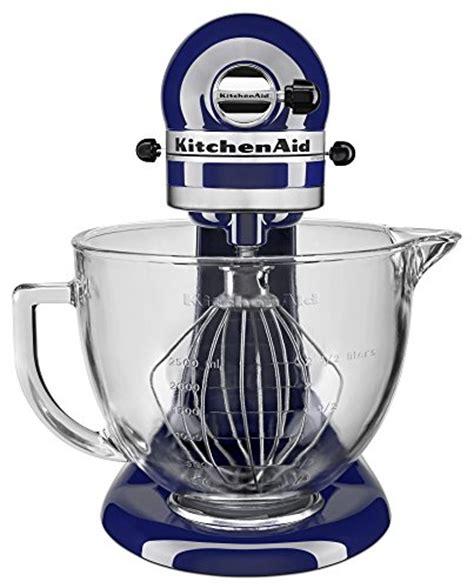 kitchenaid ksm105 5 qt tilt stand mixer with glass
