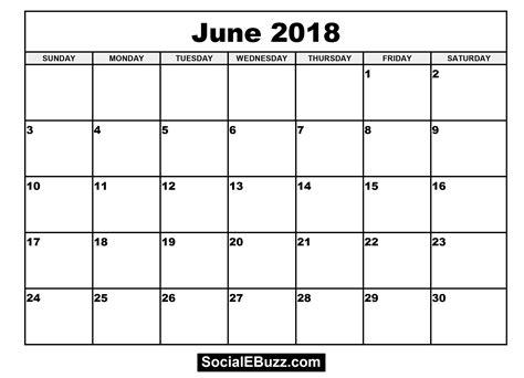 printable june 2018 calendar june 2018 calendar printable template with holidays pdf usa uk