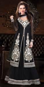 lancha dress black georgette lancha dress with zari work shopping india fabaarna sweet