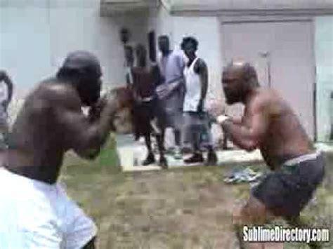 kimbo slice backyard fighting kimbo slice vs byrd a k a big d kimbo s first street