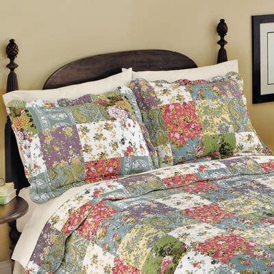Patchwork Pillow Shams - blossom floral patchwork pillow sham from collections etc