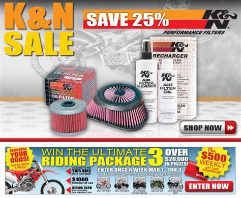 Motosport Ultimate Ride Giveaway - 25 0ff all k n products