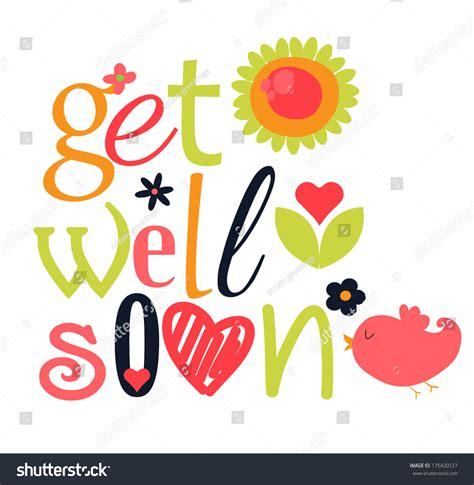 get well soon stock vector 175420127 shutterstock