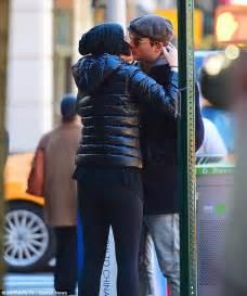 jaimie alexander kisses fiance peter facinelli in new york