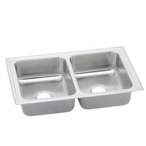 Kitchen Sink 33x19 Elkay Pacemaker Top Mount Stainless Steel 33x19 1 2x7 125