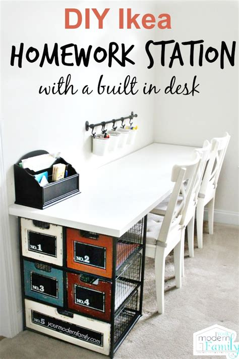 diy station diy ikea homework station with yourmodernfamily