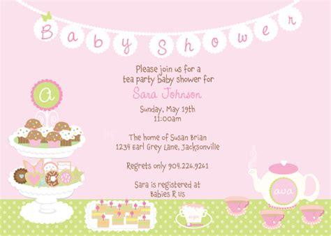 Tea Baby Shower Invitation Wording by Tea Baby Shower Invitations Dolanpedia Invitations