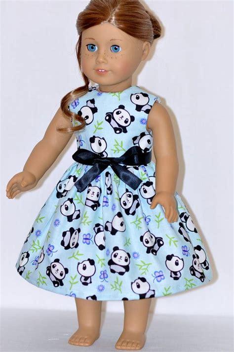 American Handmade Doll Clothes - american doll clothes handmade light blue panda